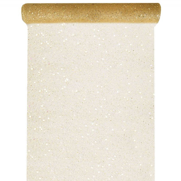Christmas Gold Glitter Table Runner 5m